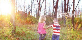 copii padure parc copil